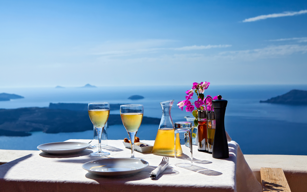 Eating Out in Santorini