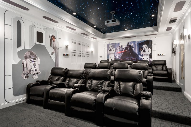 This vacation home in Orlando has a Star Wars-themed movie theater
