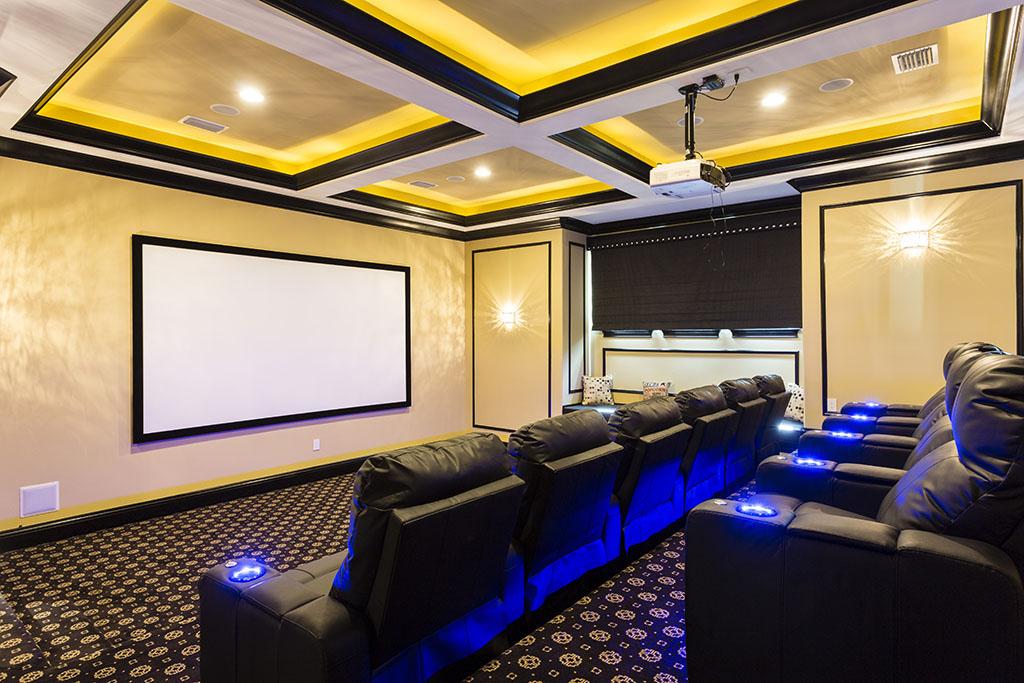 Reunion Resort 7500's home cinema