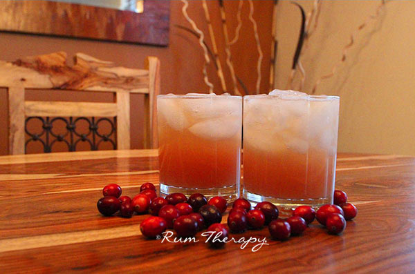 Cranberry Rum Punch courtesy of Rum Therapy