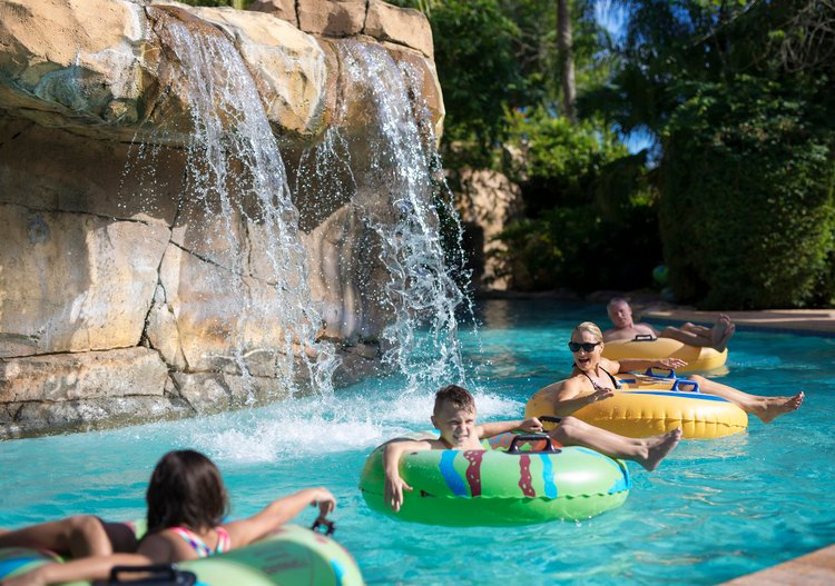 Reunion Resort has a water park with a lazy river