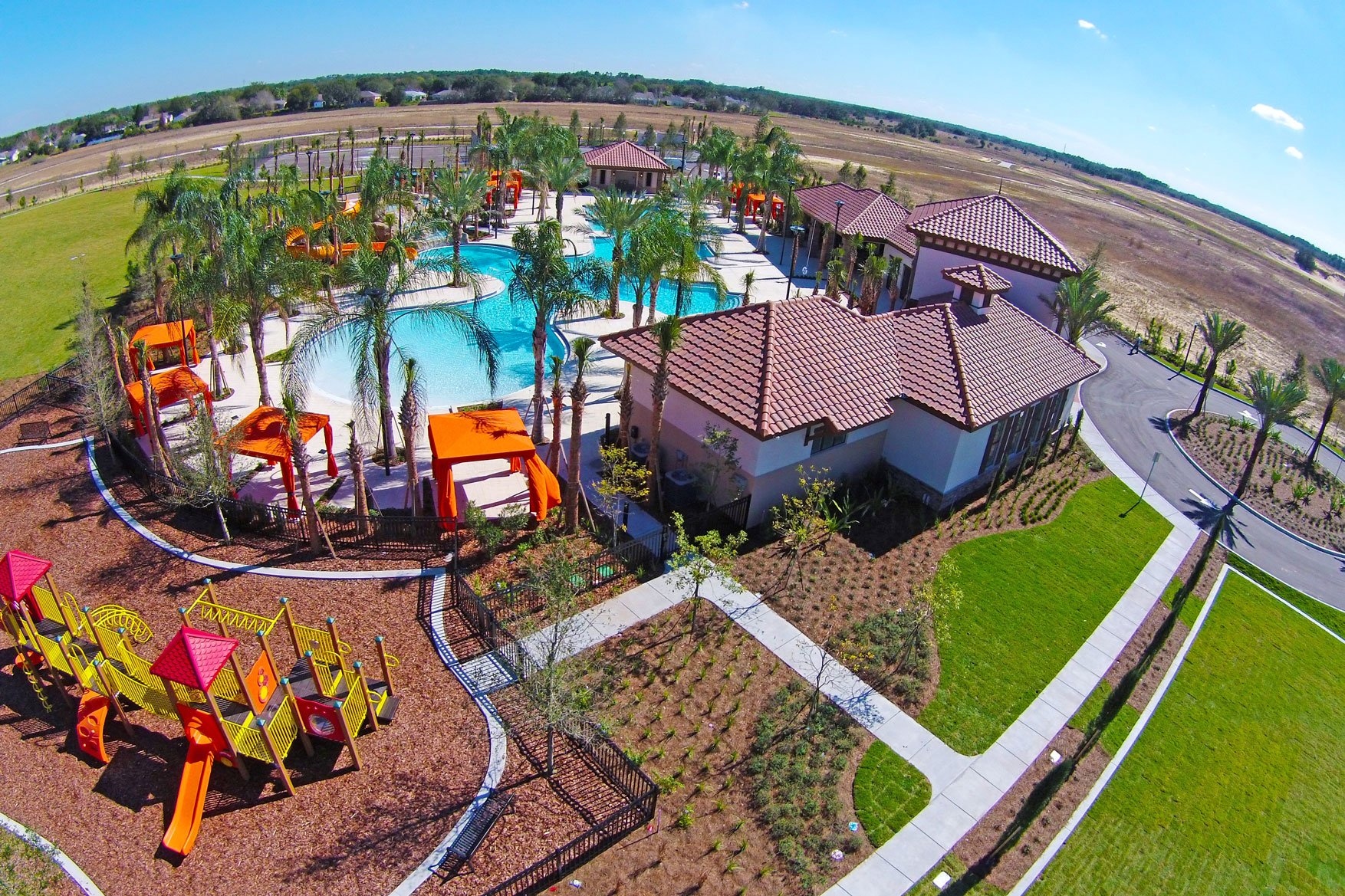 Solterra Resort clubhouse overhead