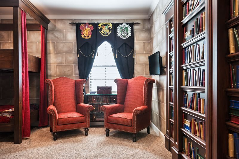 Harry Potter themed room at a vacation rental near Universal Studios