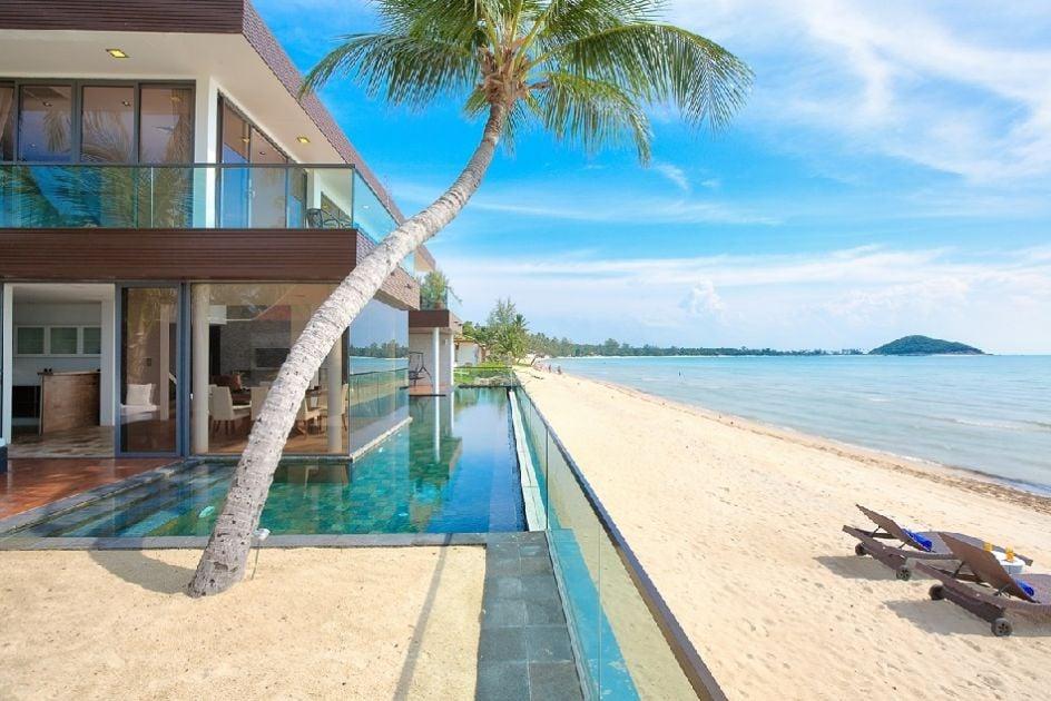 Edging the beach: this Koh Samui villa