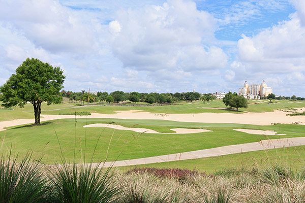 The golf courses at Reunion Resort in Florida