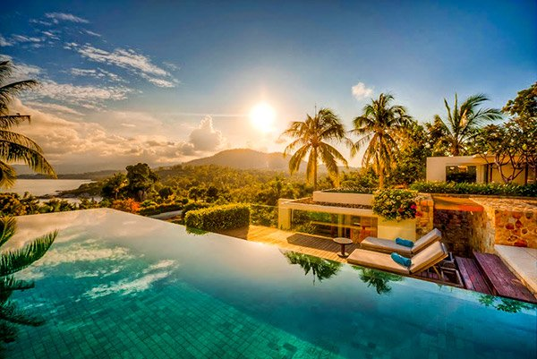 Koh Samui and Phuket both have amazing villas