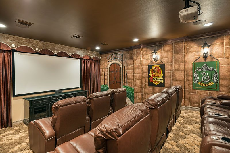 Harry Potter themed home cinema