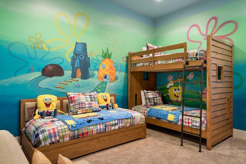 Spongebob themed room near Universal in Orlando