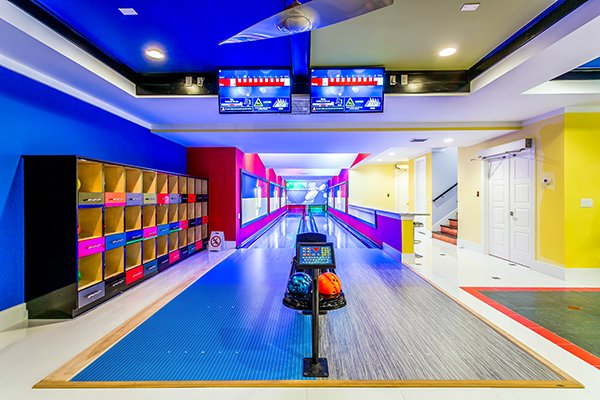 There's a bowling alley in Florida's best vacation rental