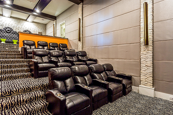 Some villas at Reunion Resort have their own cinemas