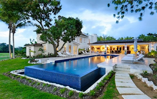 This villa in Sandy Lane is a short walk from the beach