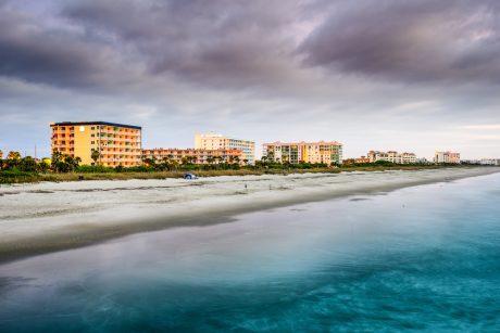 Cocoa Beach is a great free beach near Orlando
