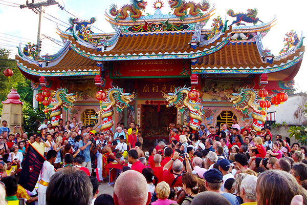 The Chinese Temple in Maenam