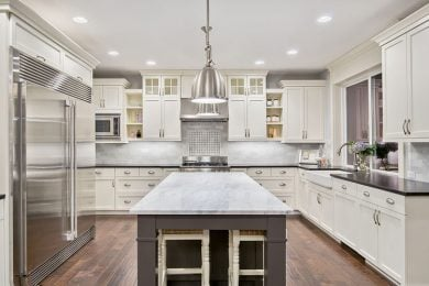 Are the kitchens in the homes fully equipped?