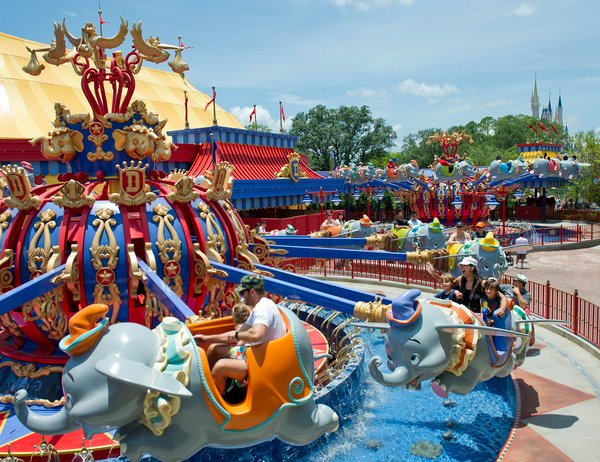 Dumbo the Flying Elephant ride at the Magic Kingdom