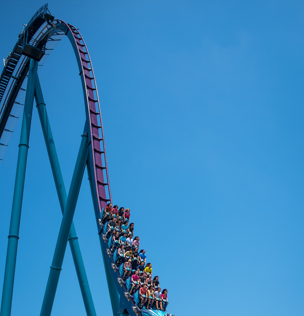 The Mako coaster at SeaWorld in Orlando