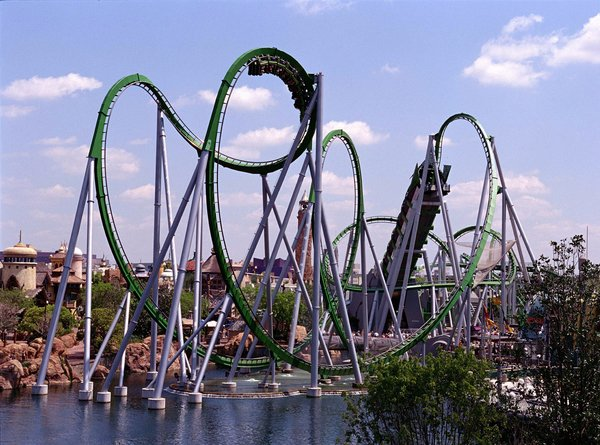 The Incredible Hulk Coaster universal orlando