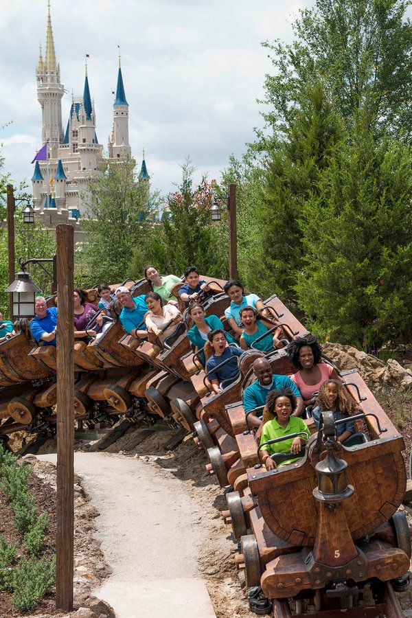 Seven Dwarfs Mine Train ride at the Magic Kingdom in Orlando