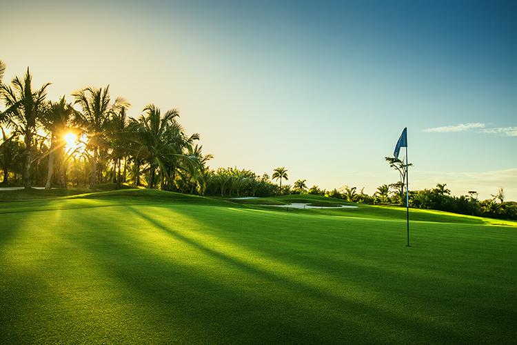 Playing golf in Orlando, Florida