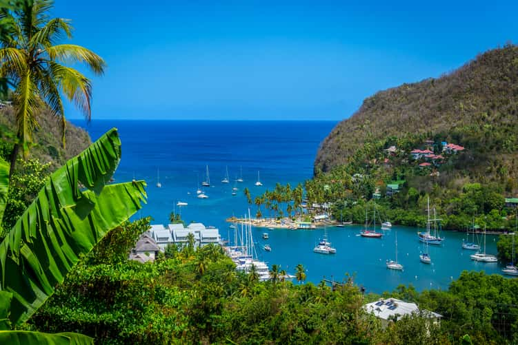 top beaches in st lucia
