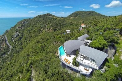 This villa in Chaweng, Thailand, has a stunning design