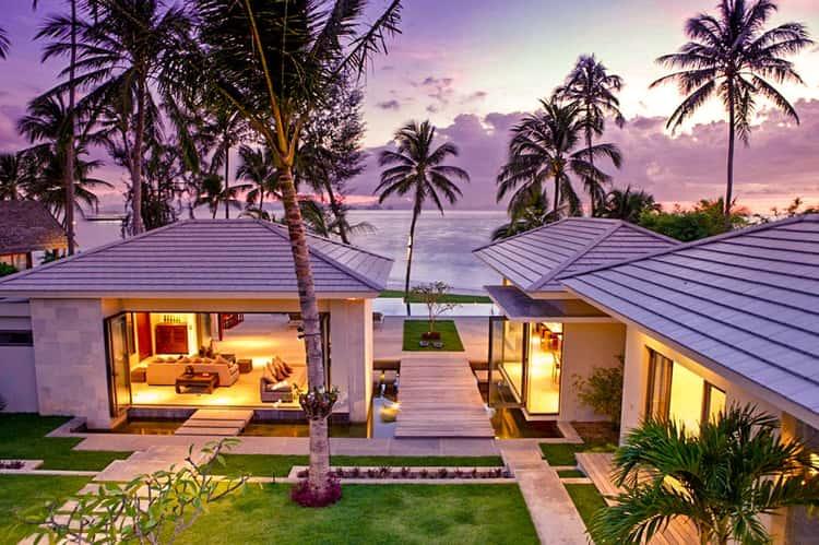 Koh Samui villas on the beach