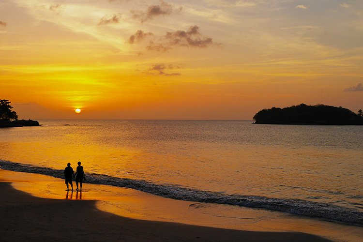 Barbados and St Lucia both have excellent beaches