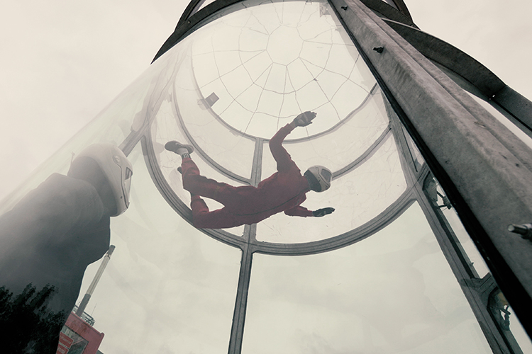 Indoor skydiving is one of the best things to do with kids in Orlando
