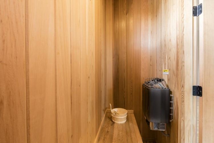 This 8-bedroom villa has an in-house sauna room