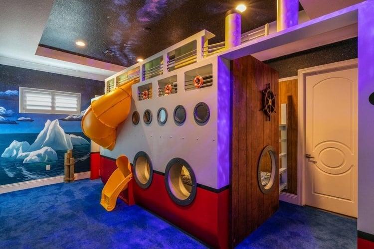 Custom-built cruise ship bunk bed