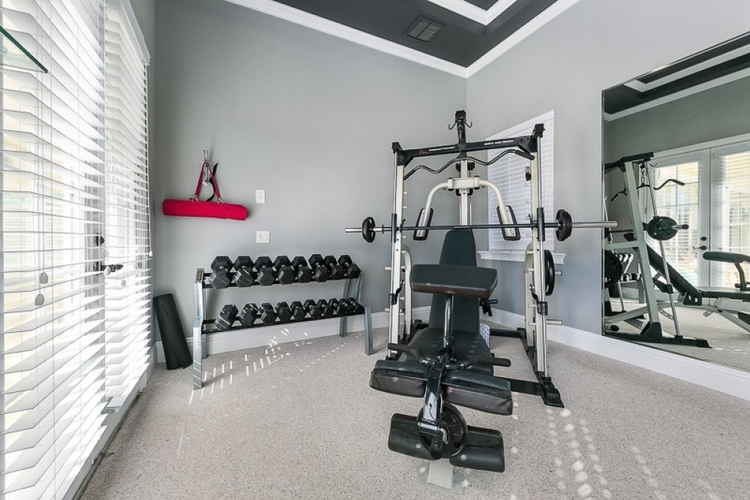 This private gym features state of the art equipment