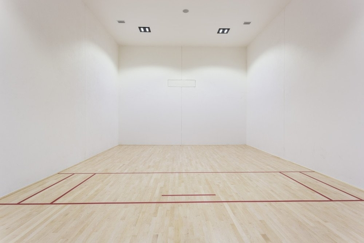 Attached to the gym is a private sports court, perfect for squash