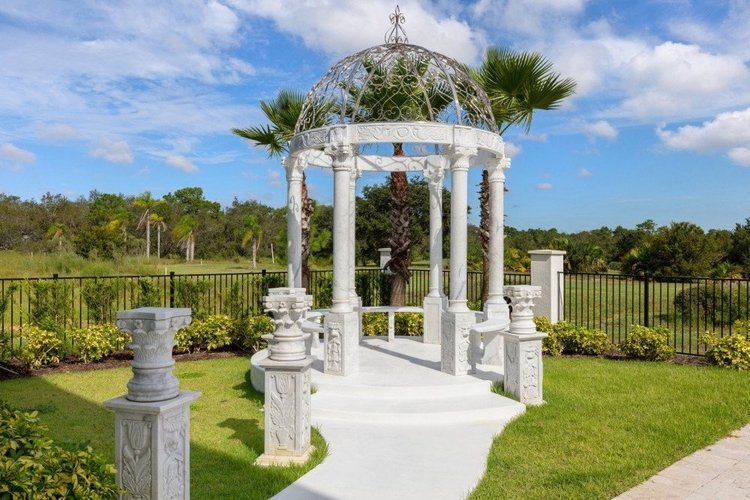The gazebo is ideal for special occasions