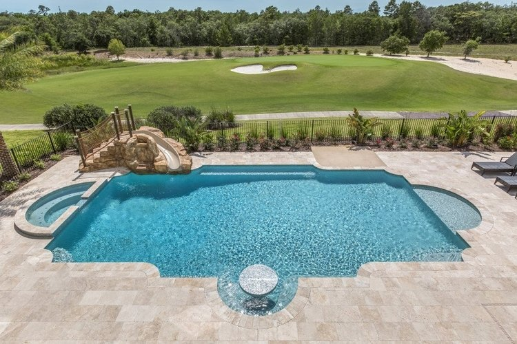 This Orlando villa boasts a huge pool and basketball court