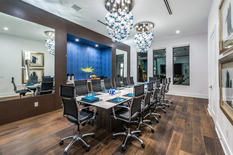 Greta for business trips, this villa features a stylish boardroom