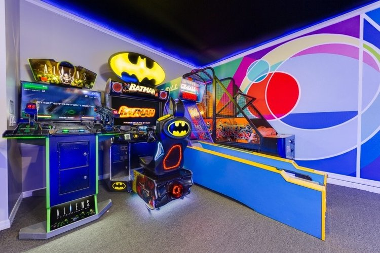 Located in Solterra Resort, this game room features multiple arcade video games