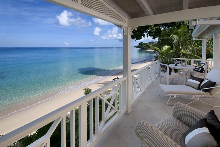 Private first floor balcony overlooks the Caribbean Sea
