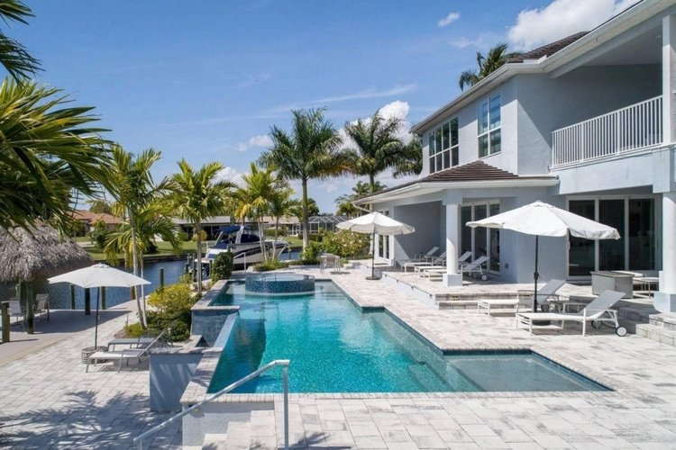 This luxury villa in Cape Coral offers excellent views across the waterfront.