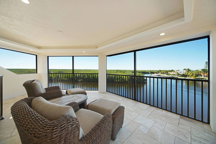 This home has a third floor observation deck, with lounge seating and excellent views of Cape Coral