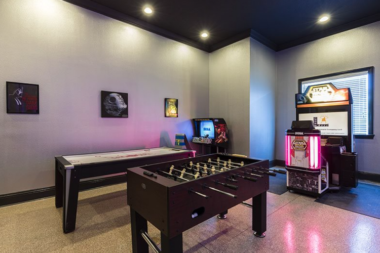 Located in Reunion Resort 2, this game room has both air hockey and foosball tables