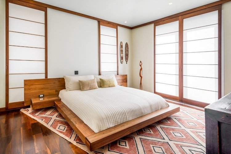 Each bedroom is individually themed to reflect a different region of America