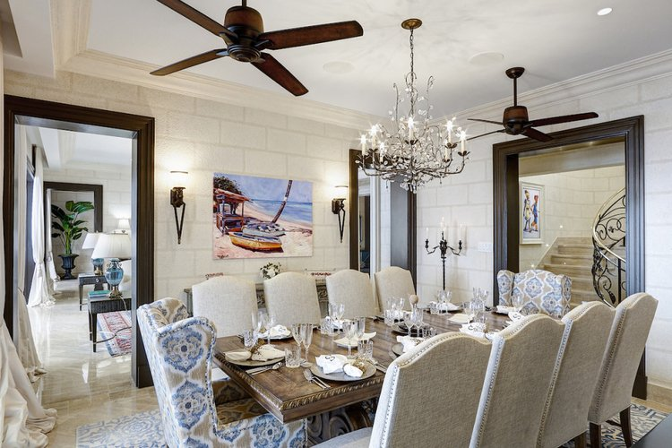 Formal dining room with space to seat 10 guests