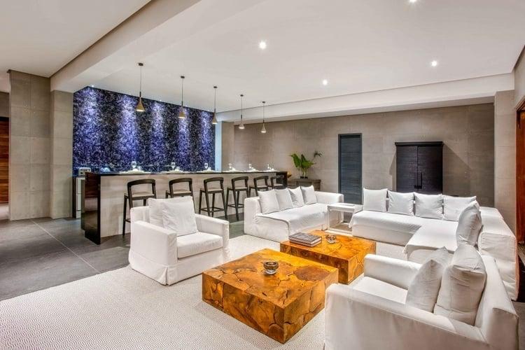 Caribbean villa with stylish open-plan living area