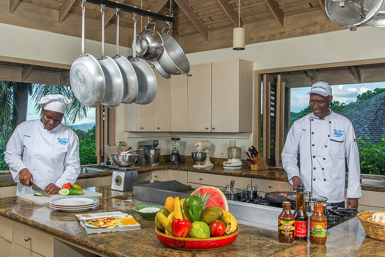 Fully-staffed villa with a private chef