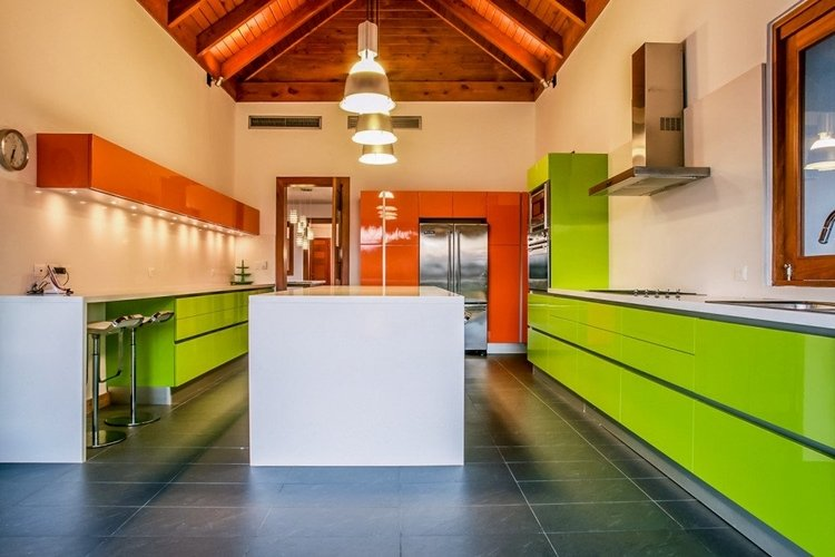 The villa has a fully-equipped kitchen and a private chef
