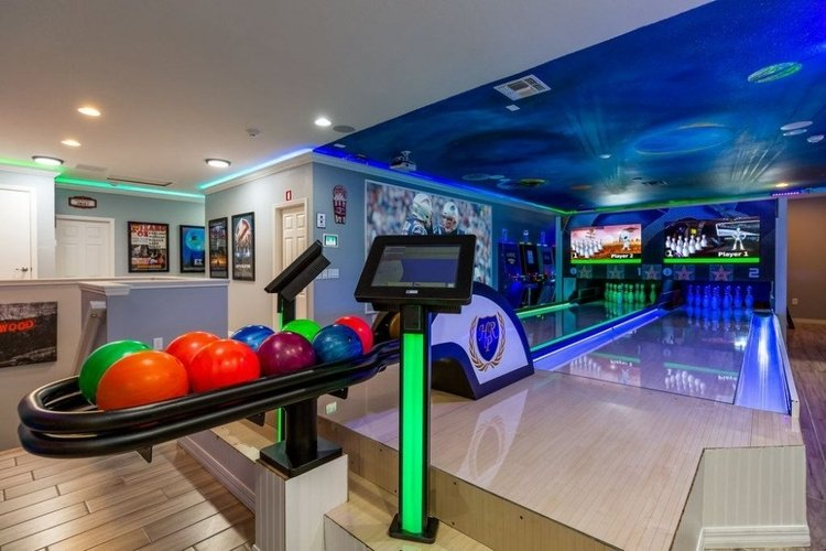 Villas with bowling alleys