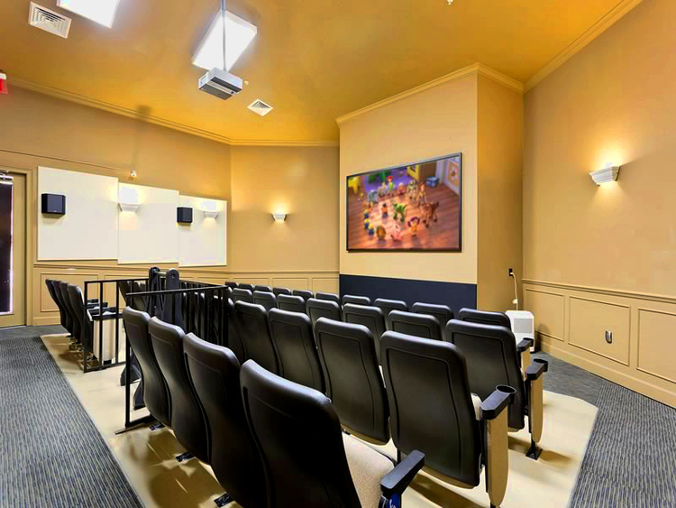 There's a cool movie theater at Windsor Hills Resort