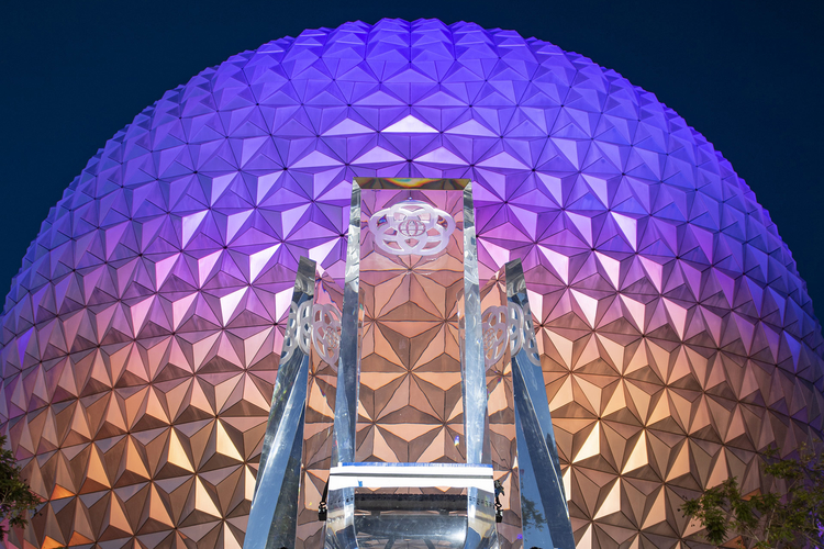 Epcot Disney World's iconic world sphere