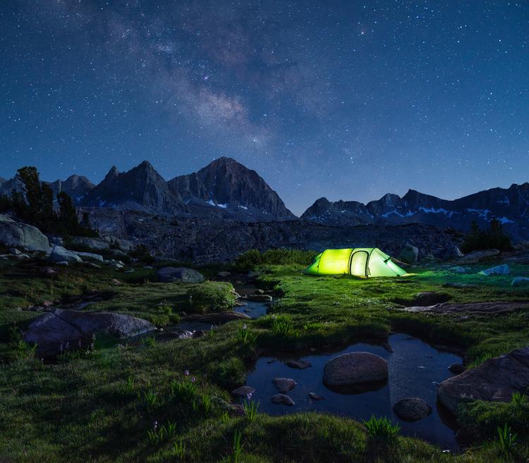 Camping John Muir Trail in California