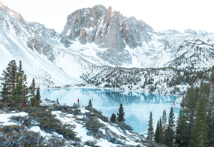 John Muir trail in winter